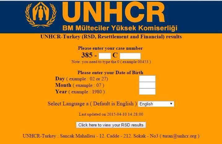 التقديم على الـ UN في تركيا