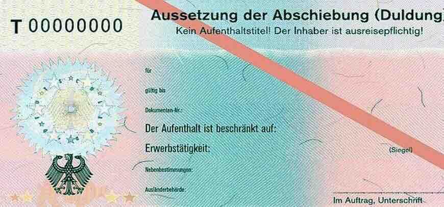 ما هو تصريح الـ Duldung في المانيا